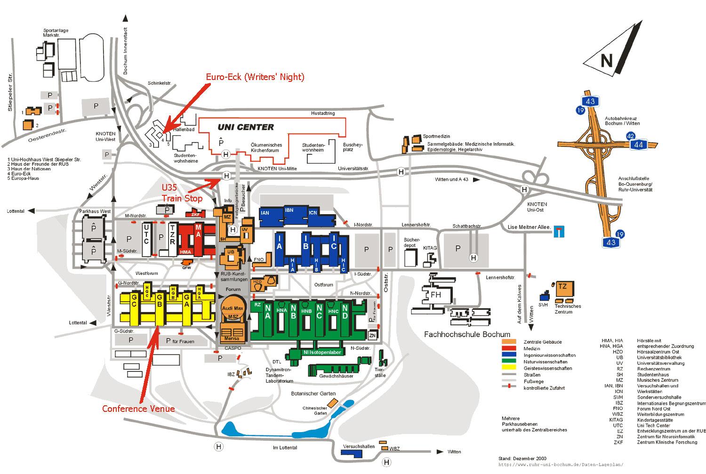 RuhrUniversitt Bochum Map